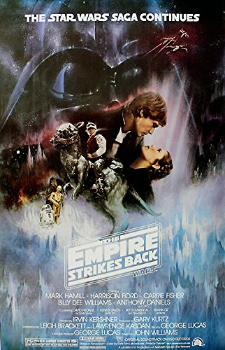 Star Wars movie poster from Empire Strikes Back