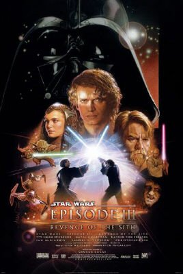 Star Wars Movie Poster for Star Wars Episode 3: Revenge of the Sith