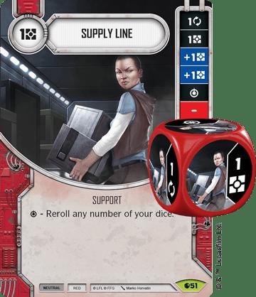 Star Wars Destiny Spirit of Rebellion Supply Line