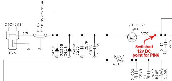 Schematic  12v switched location