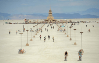 The long walk to Burning Man temple