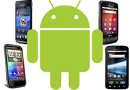 Android Robot and Smartphones