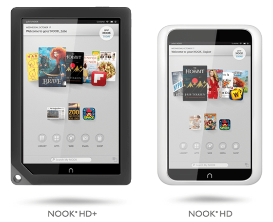 Barnes and Noble Nook HD+ and Nook HD readers