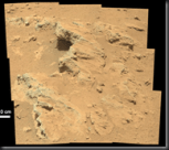 Sedimentary conglomerate on Mars