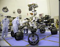 Engineers working on Mars Curiosity Rover