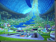 Space colonies may rotate to simulate gravity