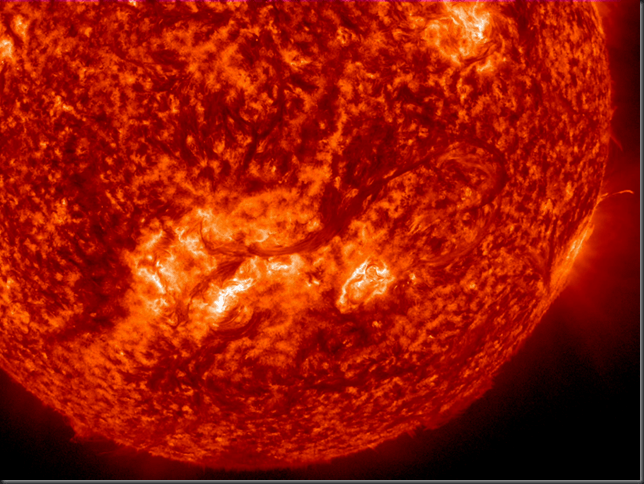 Giant solar filament ejecting from the Sun in 2012