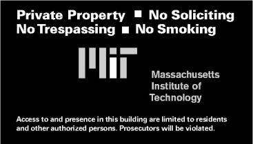 Slightly modified No Trespassing sign (read carefully)