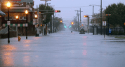 Flooded streets as Hurricane Sandy approaches