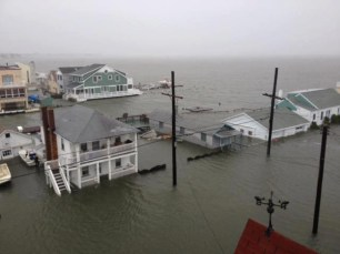 Storm surge in New Jersey