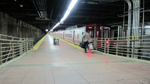 Last train to leave Grand Central Station before Hurricane Sandy lands