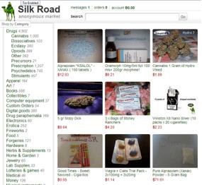Silk Road Tor hidden service screen shot