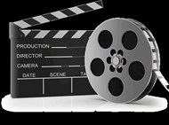 The production and filming of movies