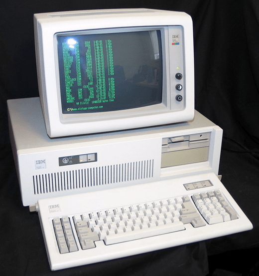 Vintage IBM PC from the 1980's