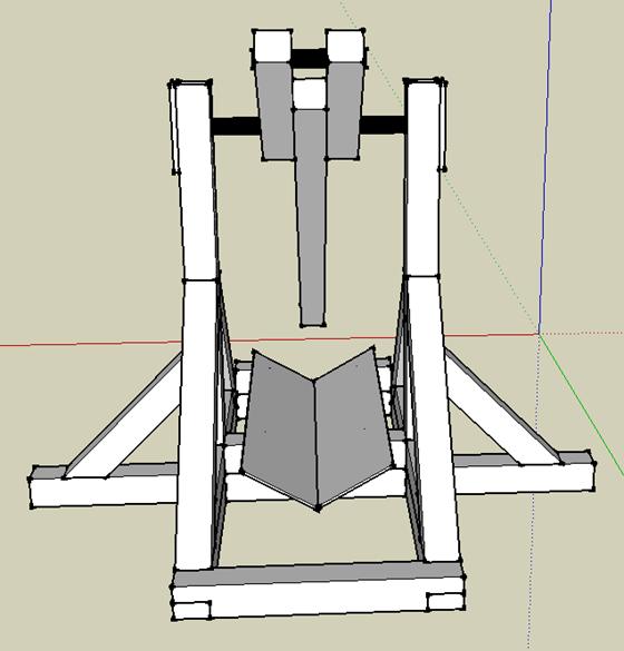 Tebuchet (Catapult) - from front