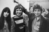 Cher, Sonny Bono, and Bob Dylan