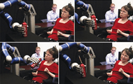Woman controls robotic arm using mind-control circuitry