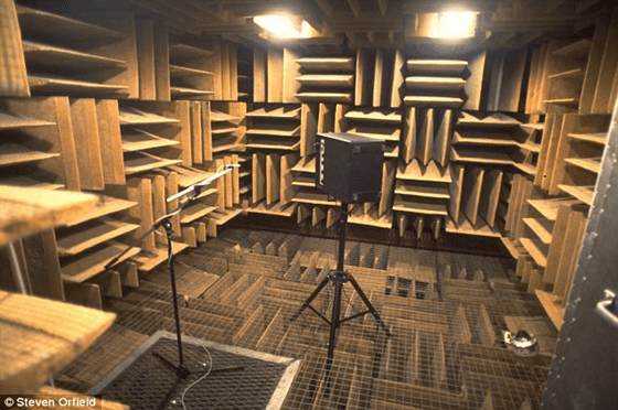Inside Orfield's sound-proof room - the quietest place on Earth