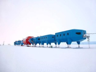 Halley VI Antarctic research station on skis