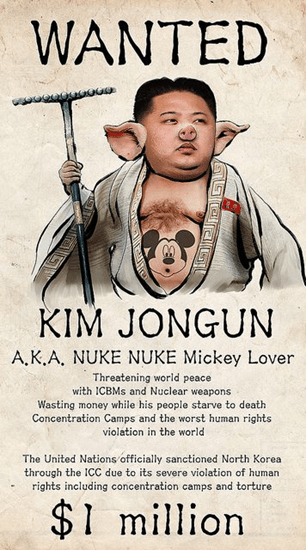 Anonymous hacks North Korea sites and places this picture of Kim Jongun with pig ears