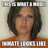 Attractive Convict - This is what a model -inmate looks like
