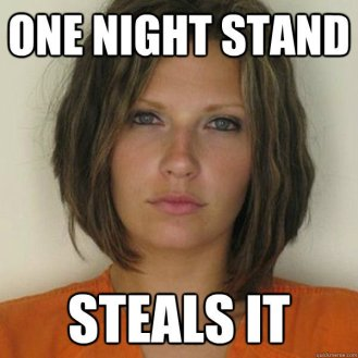 Attractive Convict - One night stand - steals it
