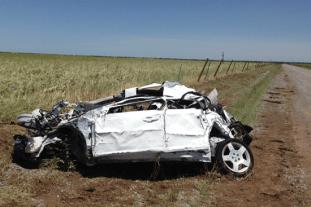Wreckage of storm chaser, Tim Samaras, car