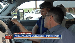 Tim Samaras and Carl Young chasing storms