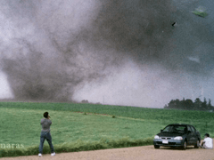 Tim Samaras filming a tornado