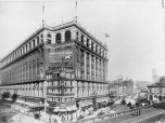 Macys Herald Square built around this existing building that refused to move