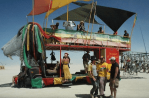 Radical vehicle at Burning Man 2013