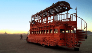 A bizarre bus at Burning Man 2013