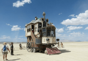 Radical vehicle at Burning Man 2013