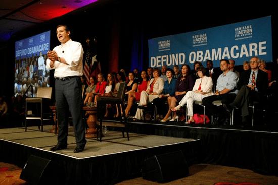 Clown Senator Ted Cruz (Texas) leads the effort to shutdown the federal government