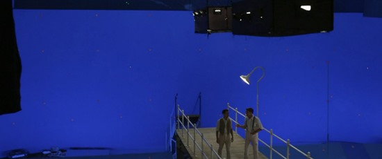 Hollywood special effects - chroma key or green screen special effects - before and after