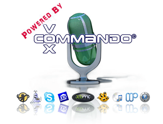VoxCommando logo (with icons representing the app/OS interfaces it supports)