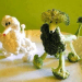 Poodle dog made out of brochilli