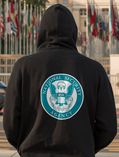 Edward Snowden often wore a hoodie like this one