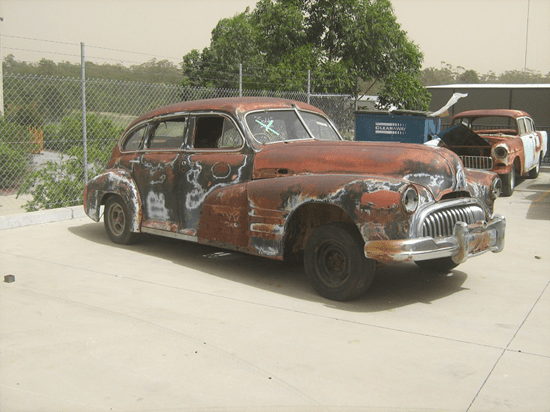 Buick from Mad Max Fury Road before being rebuilt