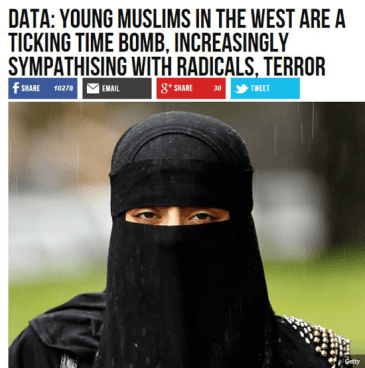 Real Breitbart headling: Data: Young Muslims in the West are a ticking time bomb. Increasingly sympathizing with radical terrorists.