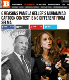 Real Breitbart headling: 6 reasons Pamela Geller's Muhammad cartoon contest is no different from Selma