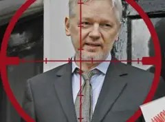 Julian Assange in crosshair