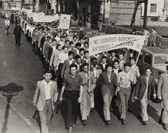 World War II survivors march