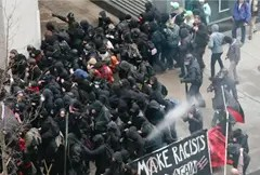 Police spray J20 protesters at Inauguration Day ceremony