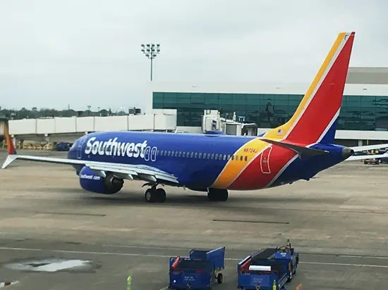 Southwest Airlines Boeing 737 Max 8 airplane thumb