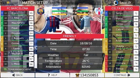 FTS 17 HD Apk + Data