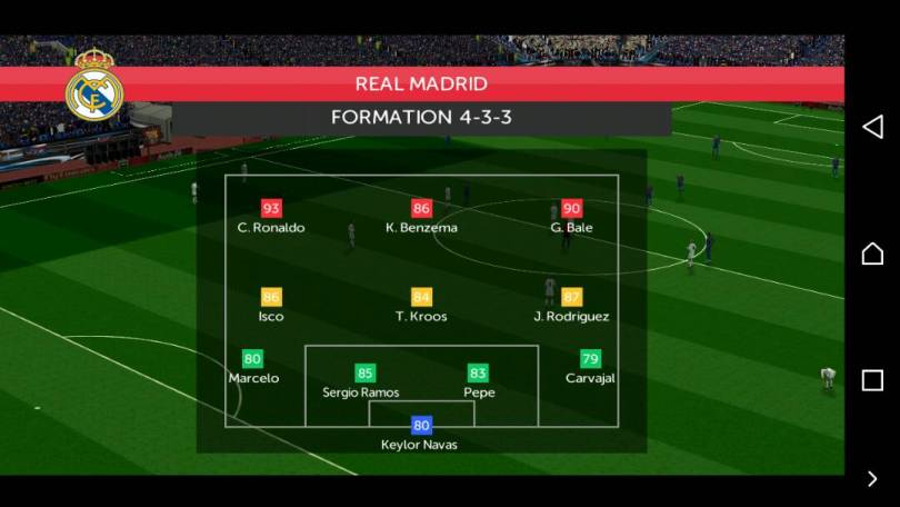 FTS 18 REAL MADRID FORMATION