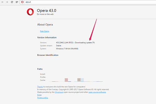 How To Manually Update Opera Browser To Latest Version