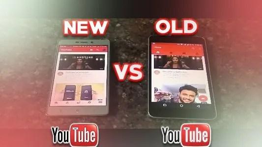 old youtube vs new youtube