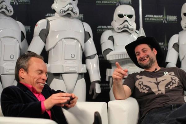 Star Wars Celebration Europe Dave Filoni With Warwick Davis